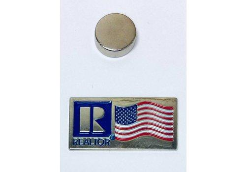 Realtor R Pin - Flag - Silver