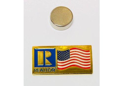 Realtor R Pin - Flag - Gold