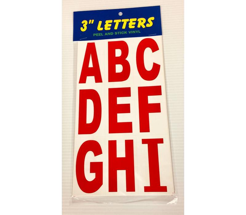 """Letters - 3"""" - Red"""