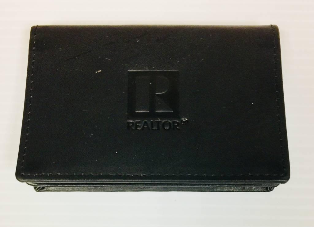 Realtor R Business Card Holder - Leather - Black - HAR Supercenter ...