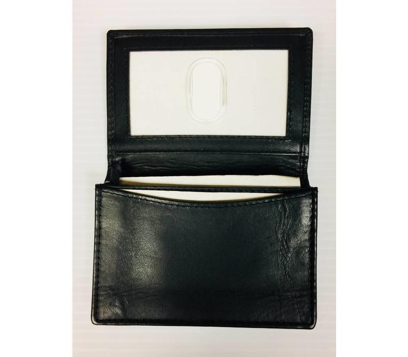 Realtor R Business Card Holder - Leather - Black