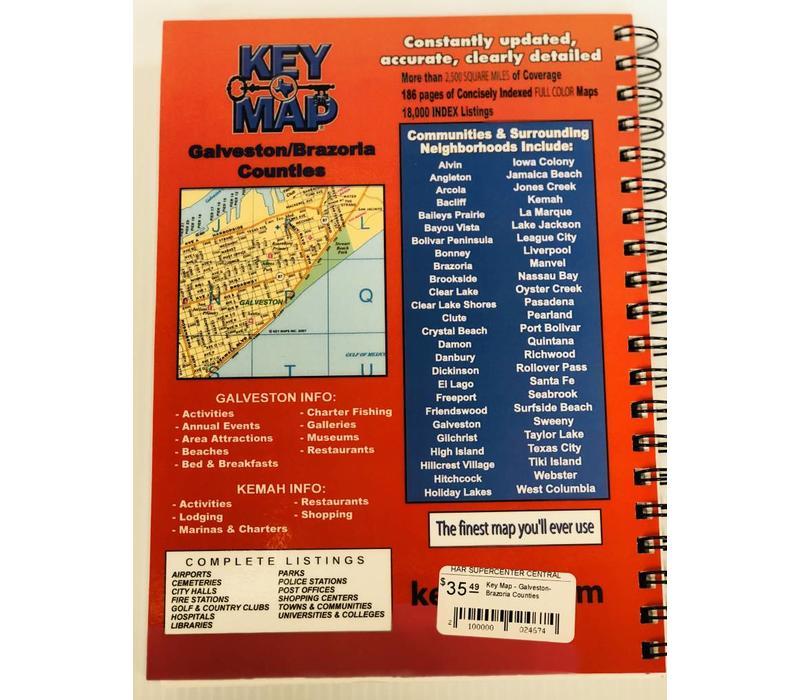Key Map - Galveston-Brazoria Counties