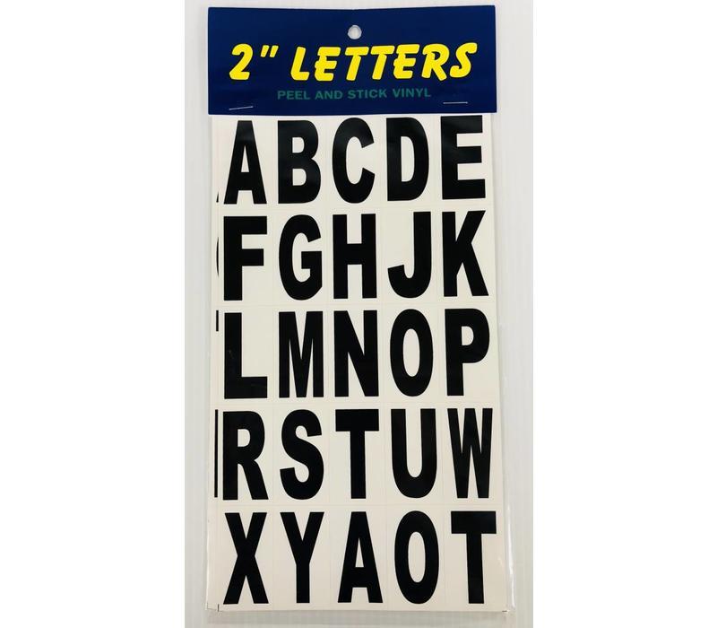 """Letters - 2"""" - Black"""