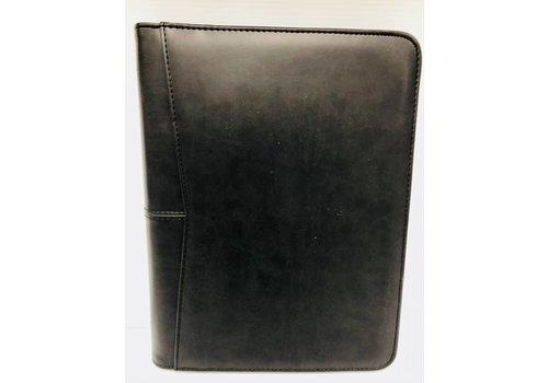 Planner - RE - Feaux Leather - Black - Lg