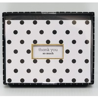 Cards - Thanks  You- Die Cut Polka Dots
