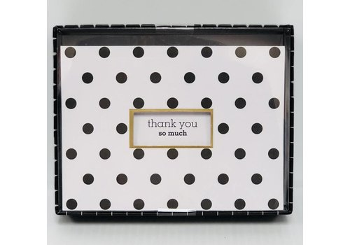 Cards - Thank You - Die Cut Polka Dots