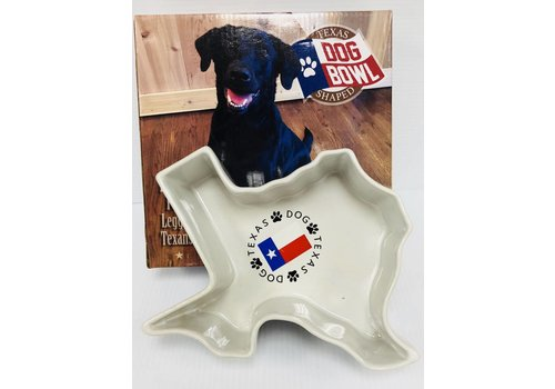 Dog Bowl - Texas Shape
