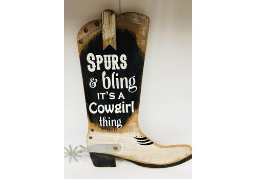 Sign - Boot - Spurs & Bling