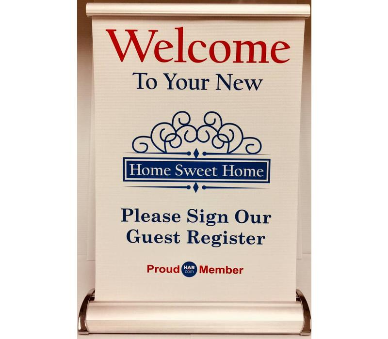 Banner Stand - Your New Home Sweet Home