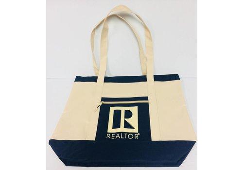 Realtor R Tote - Canvas - Beige - Lg
