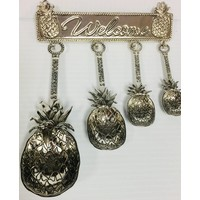 Measuring Spoon Set - Pineapple - 4pc - Zinc