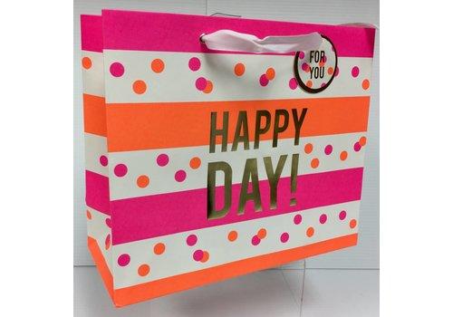 Gift Bag - Neon Stripes & Dots