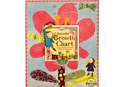 Growth Chart - Hot Pink Flower