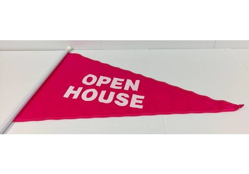 Flag - Open House - Pink
