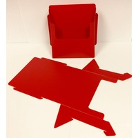 Flyer Holder - Folding - Red