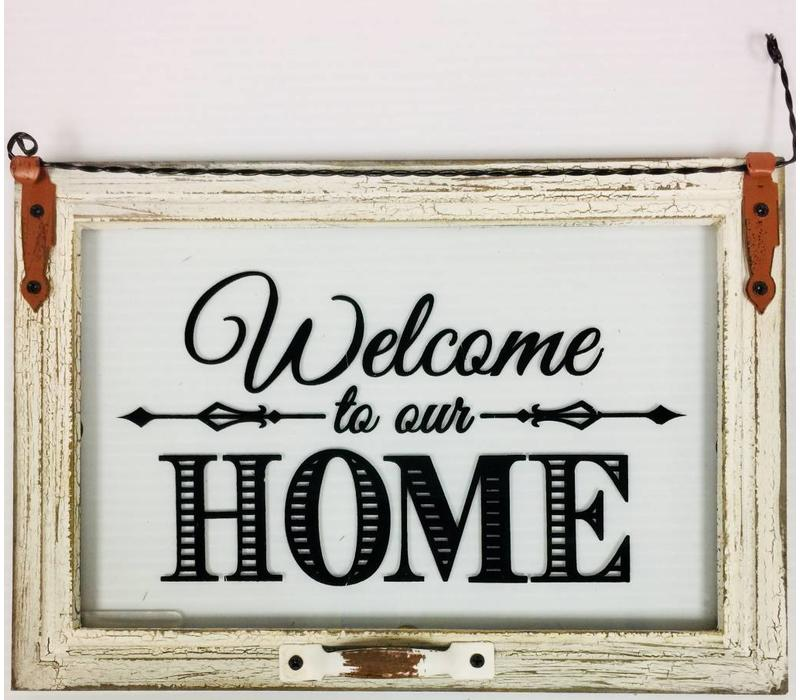 Plaque - Glass - Welcome To Our Home