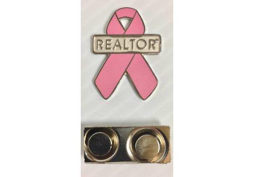 Realtor R Pin - Ribbon - Pink