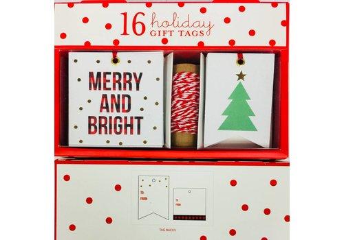 Gift Tag Set - Merry & Bright Plaid