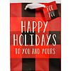 Gift Bag - Holiday - Buffalo Plaid