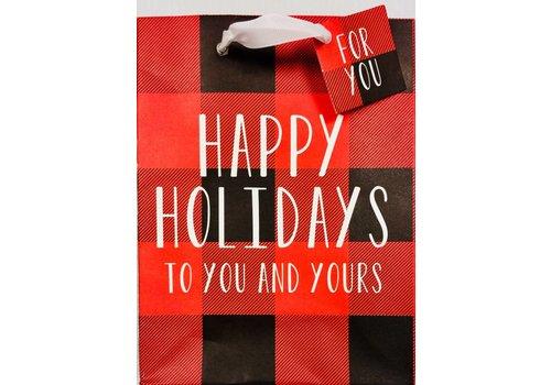 Gift Bag - Holiday - Buffalo Plaid