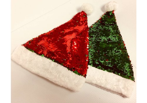 Santa Hat - Sequin Reversable