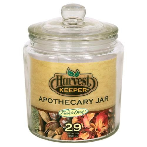 Harvest Keeper Glass Storage Apothecary Jar W/ Sealed Lid   29 Oz (24/ ...