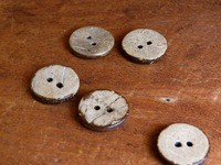 Big Bad Wool Coconut Etched Buttons By Big Bad Wool