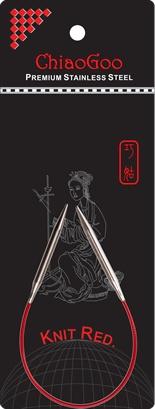 "ChiaoGoo ChiaoGoo 9"" US 7 SS Red Circular Needle"