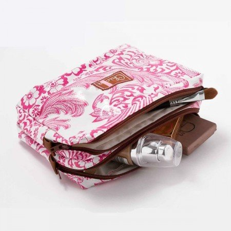 Chic-a Chic-a Double Zipper Pouch - Pink