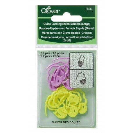 Clover Quick Locking Stitch Markers 3032 - Large