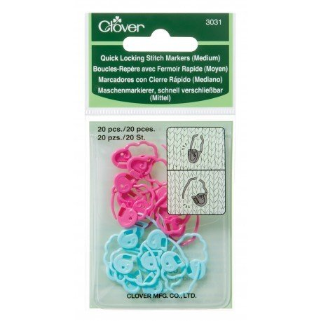 Clover Quick Locking Stitch Markers 3031 - Medium