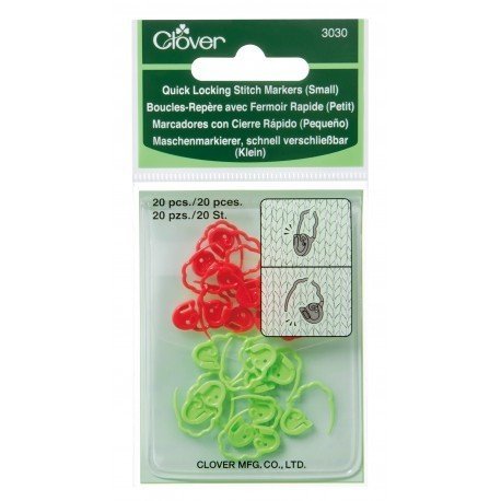 Clover Quick Locking Stitch Markers 3030 - Small