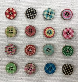 "Big Bad Wool Paperdolls 5/8"" Buttons By Big Bad Wool"