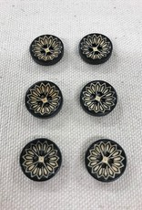 "Big Bad Wool Ebony Web 5/8"" Buttons By Big Bad Wool"