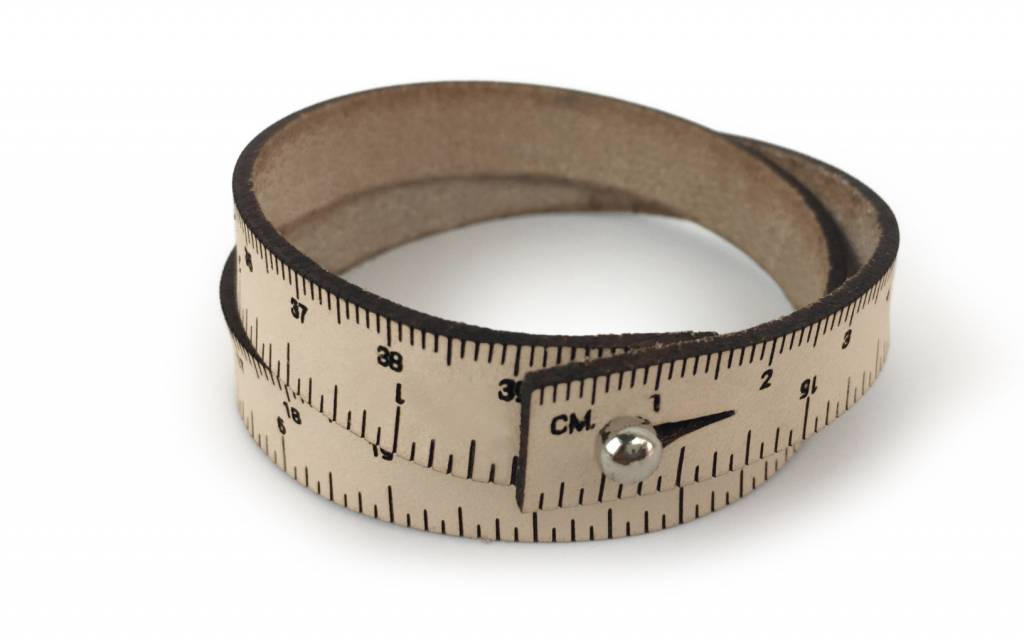 ILOVEHANDLES Wrist Ruler in Natural Size 17""