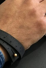 "ILOVEHANDLES Wrist Ruler in Black Size 15"""