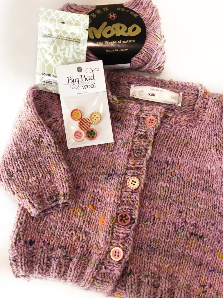 Woolly&Co. Basic Baby Cardigan Kit size 6 months