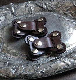 Jul Designs Jul Lock Toggle Leather Closure Chocolate Brown