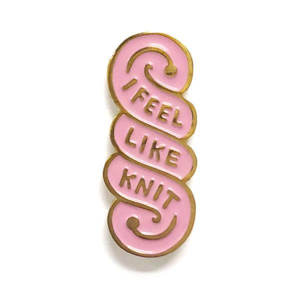 shelli Can I Feel Like Knit Pin (Taffy)