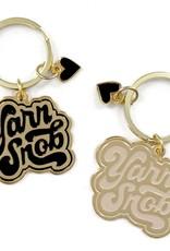 shelli Can Yarn Snob Keychain (Ivory)