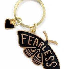 shelli Can Fearless Moth Keychain (Black)