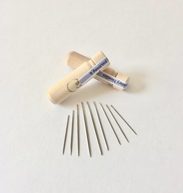 9 Asst Embroidery Needle in Wooden Tube