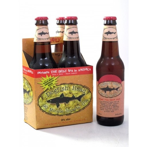 Dogfish Head Craft Brewery Dogfish Head 90 Minute Imperial IPA, 4pk