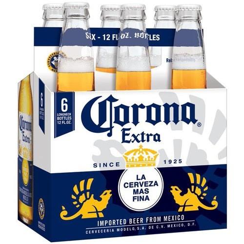 Cerveceria Modelo Corona Extra, 6pk Bottles