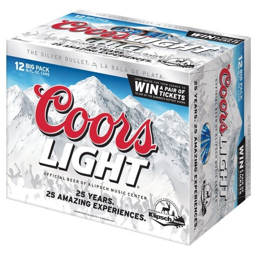 Adolph Coors Co. Coors Light Beer, 12pk Cans
