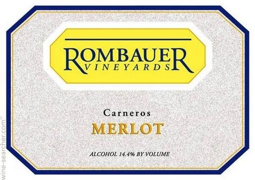 Rombauer Vineyards Rombauer Vineyards 2012 Merlot