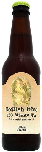 Dogfish Head Craft Brewery Dogfish Head 120 Minute IPA, Singe Bottle