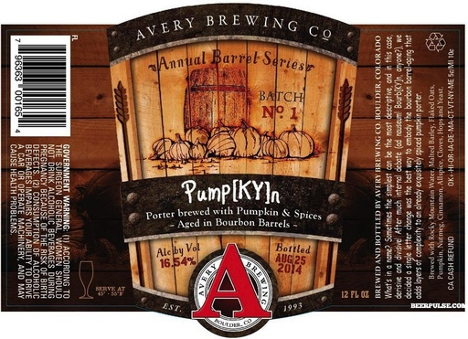 Avery Brewing Co. Avery PumpKYn Porter Aged in Bourbon Barrel, Single