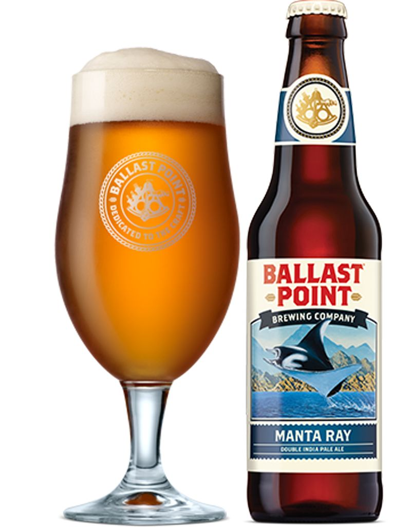 Ballast Point Manta Ray Double IPA, 6pk Bottles