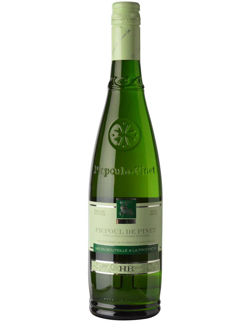 Les Costieres de Pomerols Hugues Beaulieu 2016 Picpoul de Pinet, Languedoc-Roussillon, France